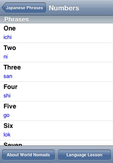 A screenshot from our Japanese language guide