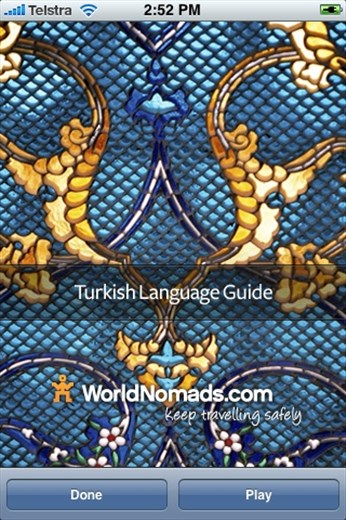 A screenshot from our Turkish language guide