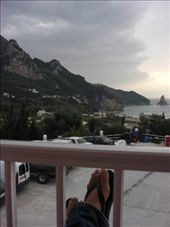 Our view from our room at the Pink Palace in Corfu: by larasumera, Views[220]