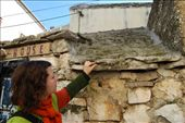 Maja the tour leader explaining how the roofs are made.: by larasumera, Views[108]