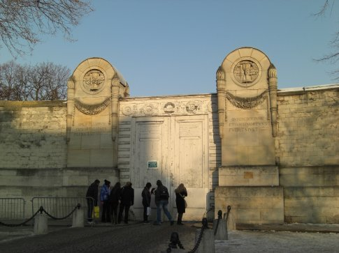 We tried to get into Pere Lachaise cementary twice.  It was closed both time due to ice and snow.  This is the most famous graveyard with the likes of Jim Morrison and Oscar Wilde amongst its residence.