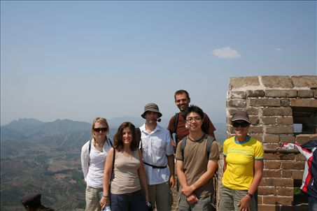 Half of my group on the Great Wall