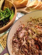 Braised chicken, sausage and lentils: by lauraecurry, Views[94]