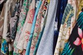 The Aloha Shirt, also known as the Hawaiian Shirt, is a style of collared shirt originating in the Hawaiian Islands. It became very popular throughout the globe in the 1950's. Vintage Hawaiian shirts spotted outside a tiny store in Hanalei, Kauai.: by lauragw, Views[123]