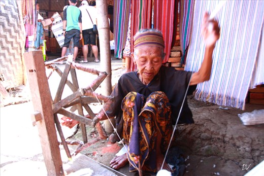 Every woman from young to old always weaving throughout the day.