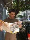 Laurie checks upcoming cricket fixtures. Always page 3 news whatever huge natural/man made disaster maybe happening: by laurie_and_harri, Views[185]