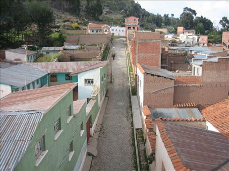 rooftop view of copacaban from the Hostal Sonia