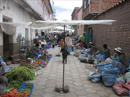 street sales  in copacabana, bolivia