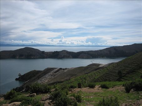 view from the south end of isla del sol