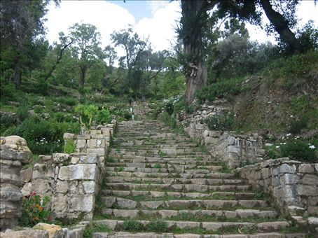 inca stairs up, up, up, south end of isla del sol