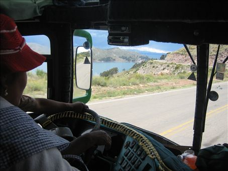 front seat of the bus from copacabana to la paz