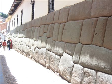 famous inca wall in central cusco