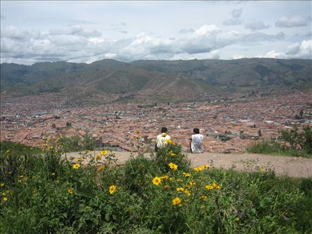 view of cusco from sacsaywaman