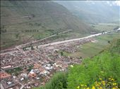 view of the town of pisac, urubamba river below.largest pre-columbian canal in the americas..walled  in by the incas to conserve agricutural land 3.3 km have survived: by ldeutch, Views[483]