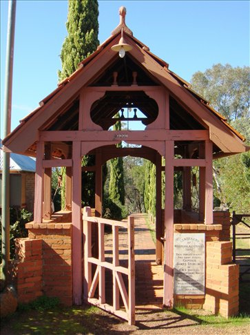 This gate commemorates the end of Captain Stirling's exploration of the Swan River. It is next to the oldest church in the Perth metro area.