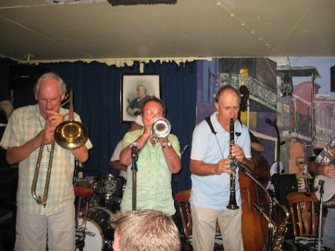 the lively and wonderful corner house jazz band