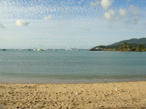 Airlie Beach looking out to the northern edge of the Whitsundays chain