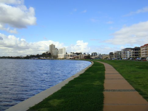 Prime riverfront property in South Perth, just across the Swan River from downtown.