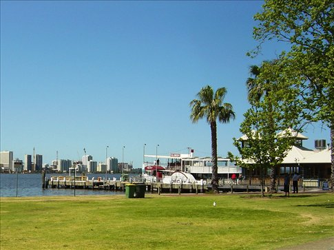 Ferry station across the river in South Perth