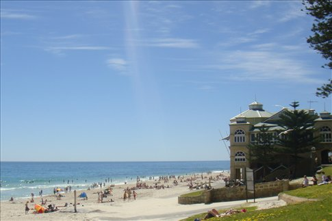 Cottesloe beach is back in action after a long winter.