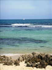 sailboat off the coast of perth at mettam's pool: by leah, Views[500]