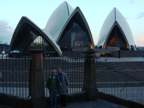 Jess and I outside the Opera House