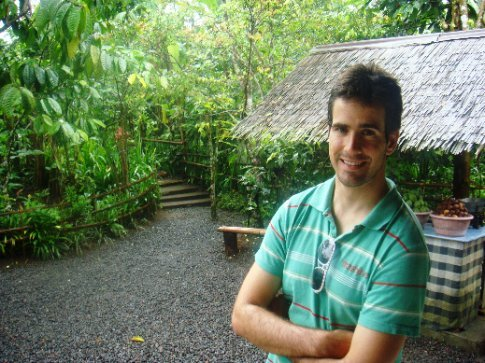 Seb at the coffee farm
