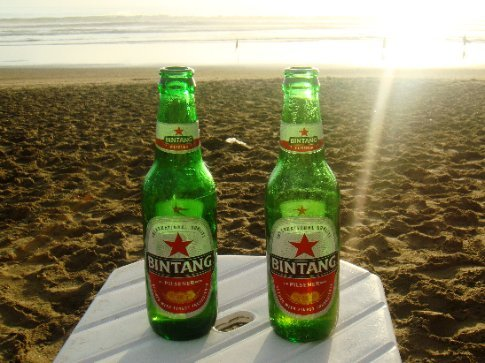 Sunset Bintangs on the beach