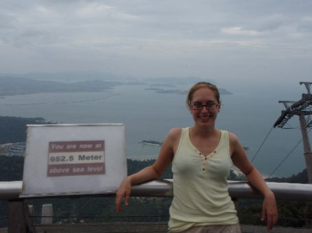 leah at langkawi cable car lookout