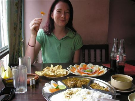 the plate of 'greens' nepal style lol