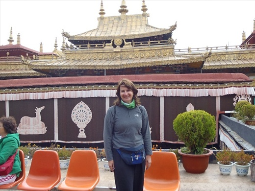 On top of the Jokhang Temple.