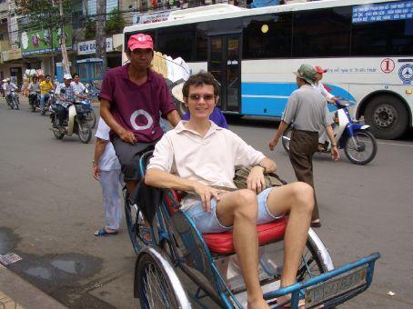 Passeio de requixah em Cholom, bairro chines.