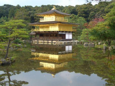 Kinkaku-ji, o Templo Dourado, por motivos  obvios...