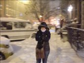 Lee - Ann, a few days before Christmas in a snow storm New York: by les, Views[123]
