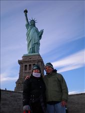 Lee - Ann and I on Liberty Island in front of the Statue Of Liberty, New York.: by les, Views[125]