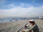 Me at the beach with the Santa Monica Pier in the background, Los Angeles.: by les, Views[168]