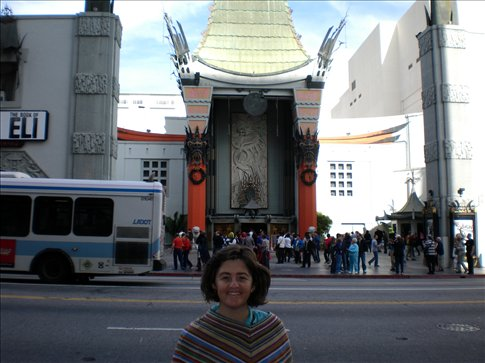 Lee - Ann in front of Graumans Chinese Theatre, Los Angeles.