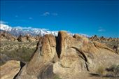 Alabama Hills, California - Large head looking towards the sky with squinted eyes: by lesleymorgan, Views[142]