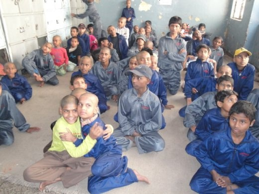 Our audience at the Salaam Balak Trust shelter for street kids in Delhi (photo: Allison Coleman)