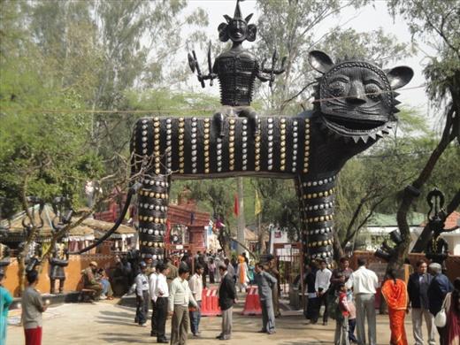 Entrance to the Surajkund Mela (photo: Allison Coleman)