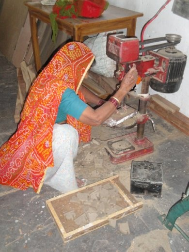A woman working at Barefoot College, Rajasthan