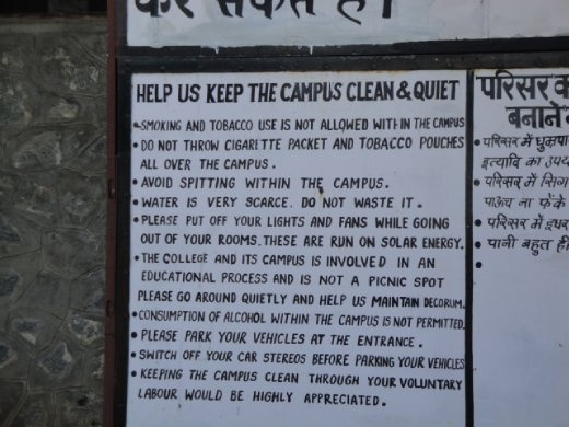 Barefoot College's Code of Conduct...