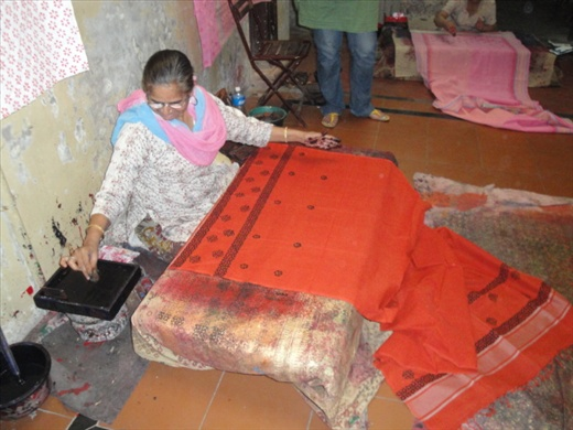 Traditional Fabric Printing at Design SEWA in Ahmedabad  (photo: Allison Coleman)