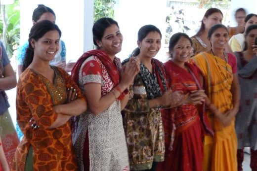 Our friends at SEWA watching Libana dance the Garba! (photo: Alan Mattes)