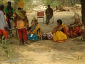 A performing group waiting their turn onstage at the Surajkund Mela! (photo: Cheryl Weber): by libana, Views[269]