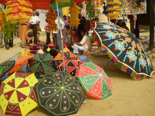 Umbrellas and lamps for sale! (photo: Cheryl Weber)