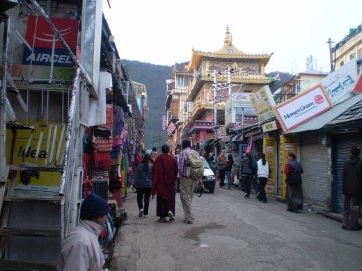 A street in Dharamsala