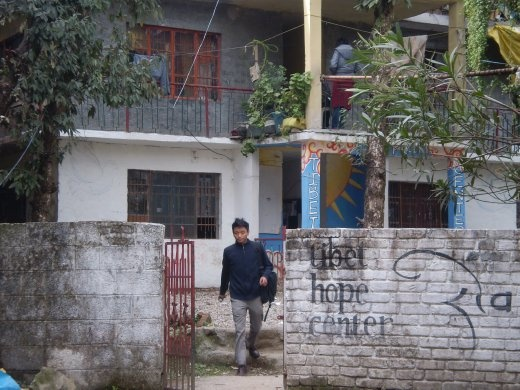 Kunsang at his organization, the Tibet Hope Center in Dharamsala