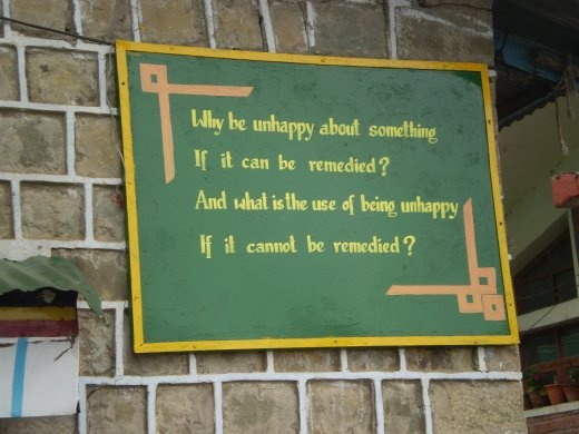 A sign outside at the Tibetan Children's Village in Dharamsala