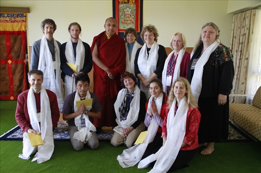 Libana + family meet with His Holiness the Karmapa in Dharamsala, India